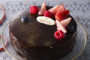 ベリーのチョコレートケーキ