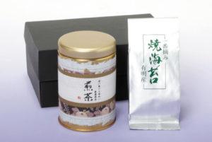 静岡産高級煎茶2本・有明産焼海苔セット